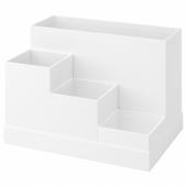ТЬЕНА Подставка д/канцелярских принадлежн, белый, 18x17 см